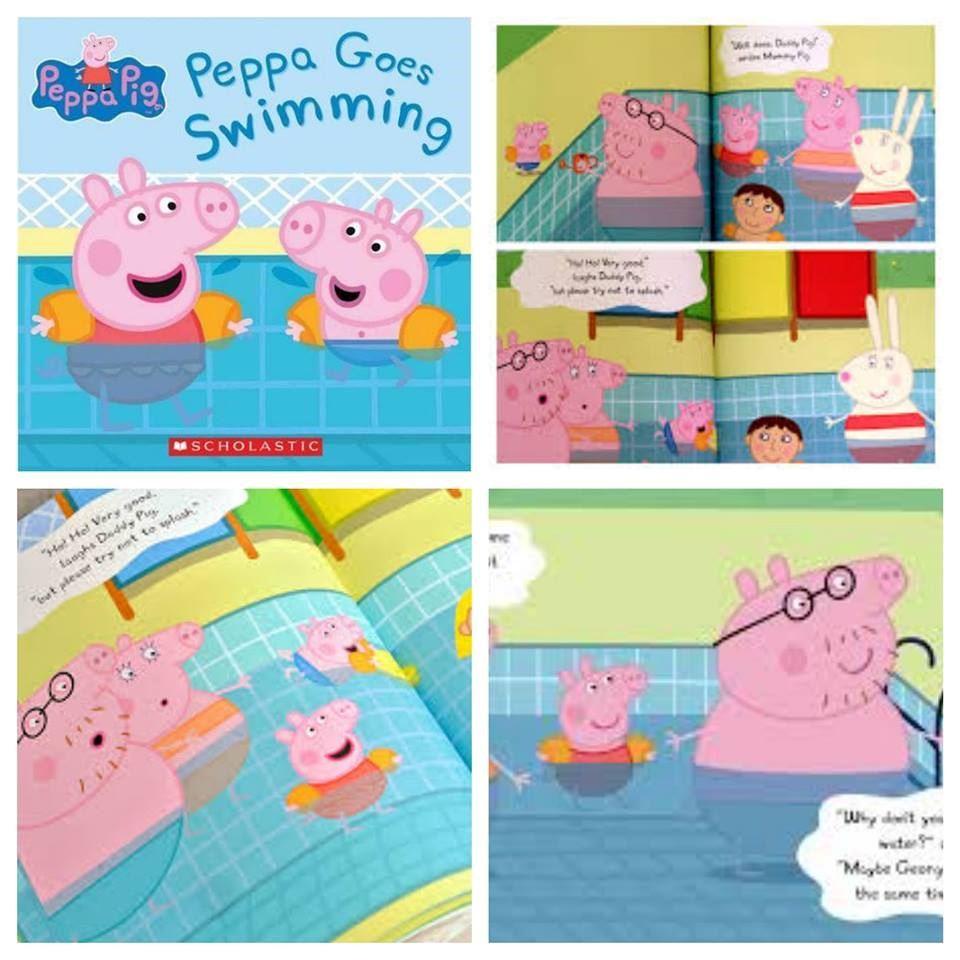 Peppa Pig 故事書 Goes Swimming Book