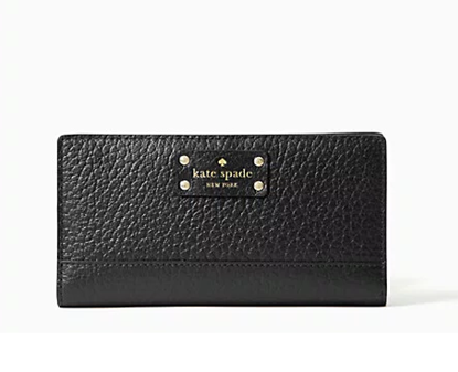 Picture of *貨品已SOLD OUT* P4U 空運: Kate Spade 真皮銀包  全黑