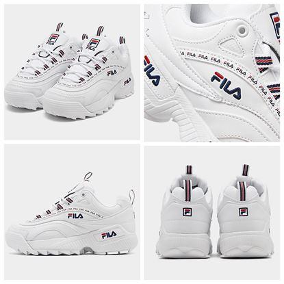 圖片 FILA 中童厚底白色波鞋(LOGO花紋)