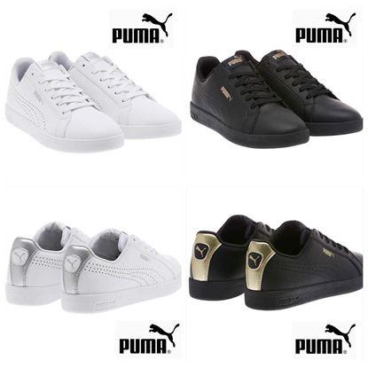 圖片 Puma 女裝真皮波鞋 黑色