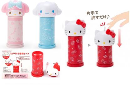 圖片 Sanrio按壓式棉花棒收納筒