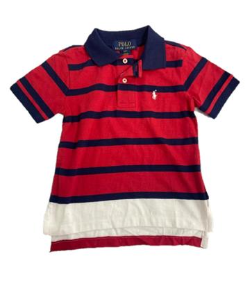 圖片 Ralph Lauren 小童間條拼色POLO衫