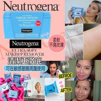 Picture of *貨品已截單* A P4U 5底: Neutrogena 深層卸妝濕巾(25張)