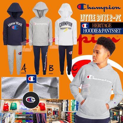 圖片 A P4U 6中: Champion 小童衛衣外套套裝 4T