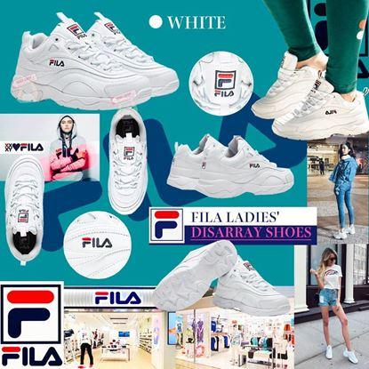 Picture of *貨品已截單* A P4U 6中: FILA 女神厚底老爹鞋(白色)