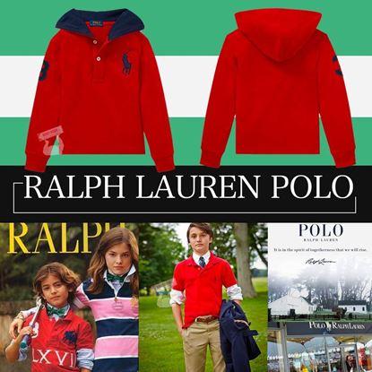 Picture of Ralph Lauren 男童有帽POLO衫 紅色 4T