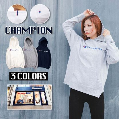Picture of **貨品已截單**A P4U 12底: Champion 女裝橫字Logo衛衣