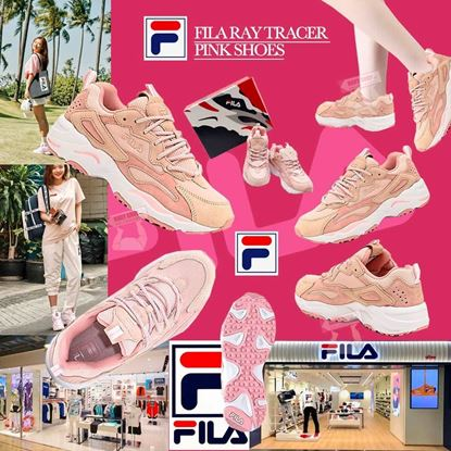圖片 FILA 女裝粉色厚底鞋