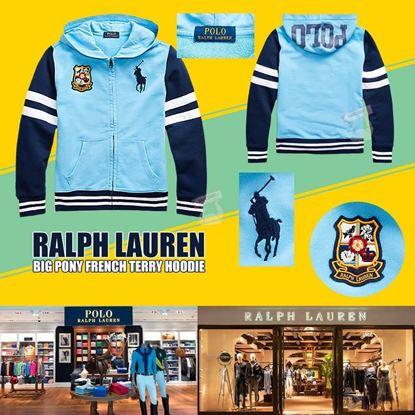 圖片 Ralph Lauren Polo 中童拼色綿外套 (藍色)