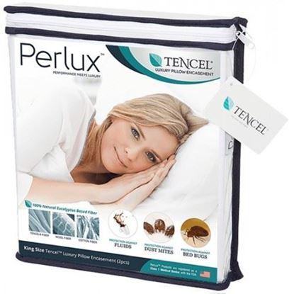 圖片 Saferest Perlux 頂級天絲防水抗過敏枕頭套 (1套2個)