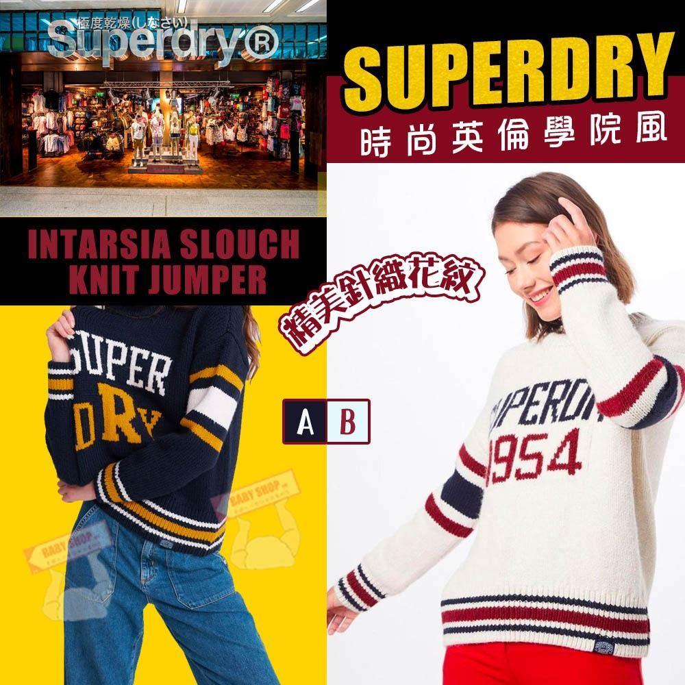 圖片 *貨品已截單* A P4U 3底: Superdry Slouch 女裝大Logo毛衣