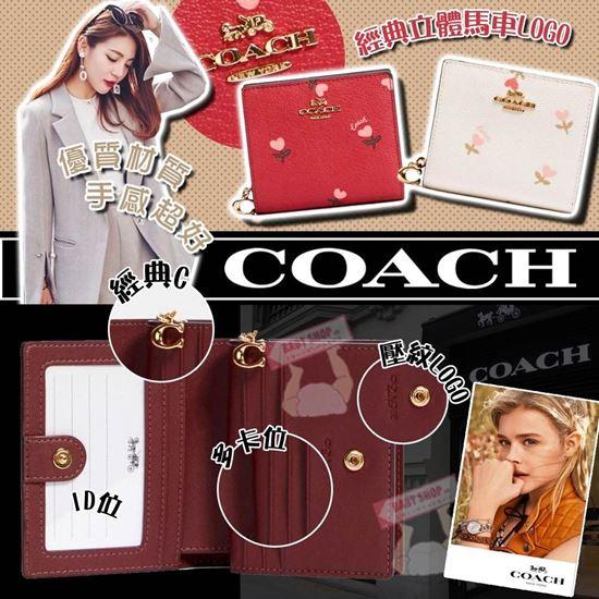 圖片 **貨品已截單**A P4U 空運: Coach Heart Floral 桃心印花銀包