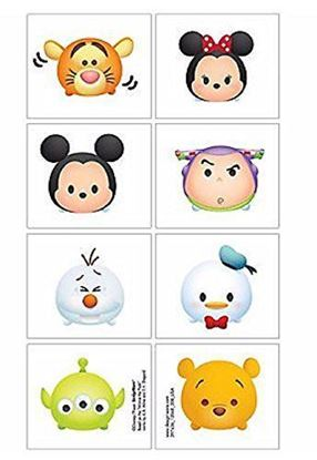 圖片 Disney Tsum Tsum 紋身貼紙 (1張8款)