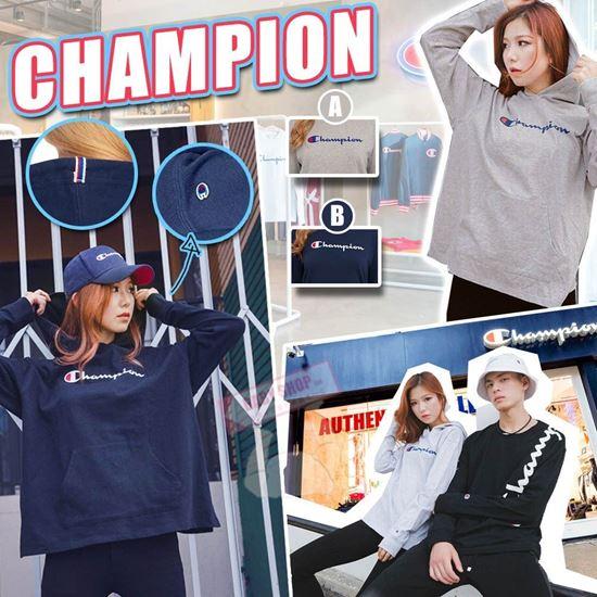 圖片 **貨品已截單**A P4U 4中: Champion 女裝橫字Logo衛衣