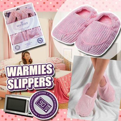 圖片 A P4U 4中: Warmies 粉色暖腳毛毛鞋 6-10