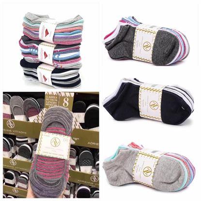 圖片 Adrienne vittadini 女裝船襪 1套10對 (顏色隨機)