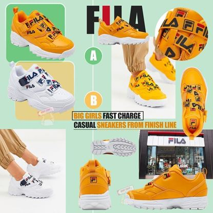 Picture of FILA Fast Charge 中童波鞋 (白色)
