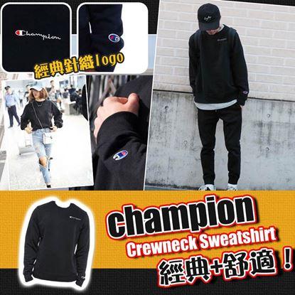 Picture of **貨品已截單**A P4U 5中: Champion 黑色圓領衛衣 M