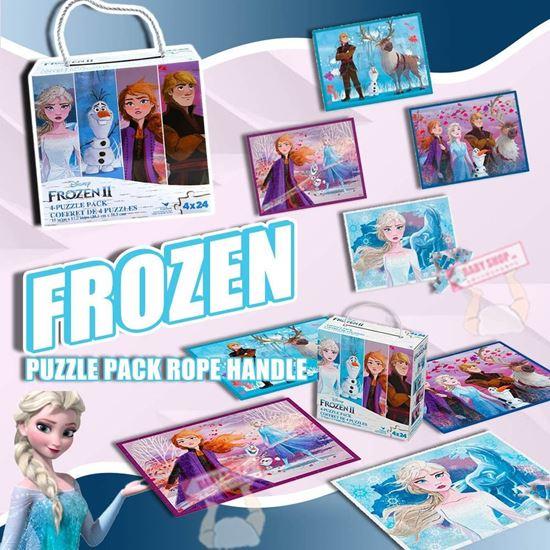 圖片 *貨品已截單* A P4U 5中: 冰雪奇緣主題拼圖(一盒4張)