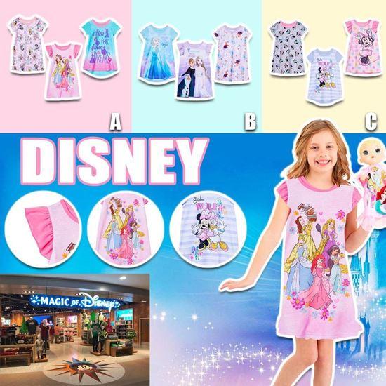 圖片 **貨品已截單**A P4U 6中: Disney 女童睡裙三件套