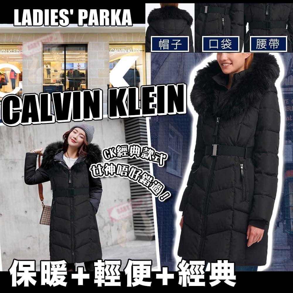 圖片 **貨品已截單**A P4U 6中: Calvin Klein 女裝黑色長身棉外套
