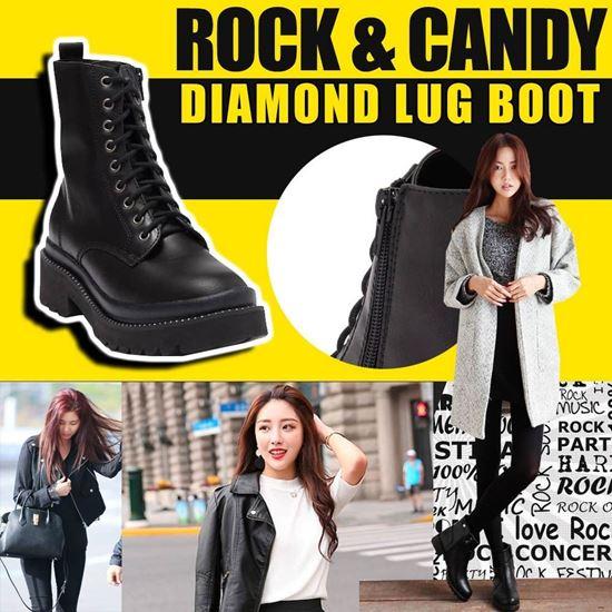 圖片 **貨品已截單**A P4U 6中: Rock & Candy 女裝短靴(黑色)