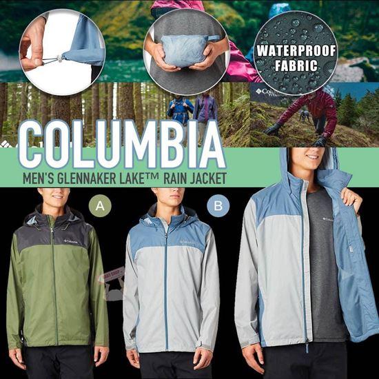 圖片 Columbia 男裝拼色防UV外套(藍拼淺灰色)