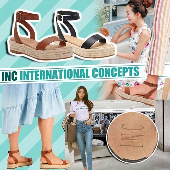 圖片 *貨品已截單* A P4U 6底: INC International 女裝帆布涼鞋