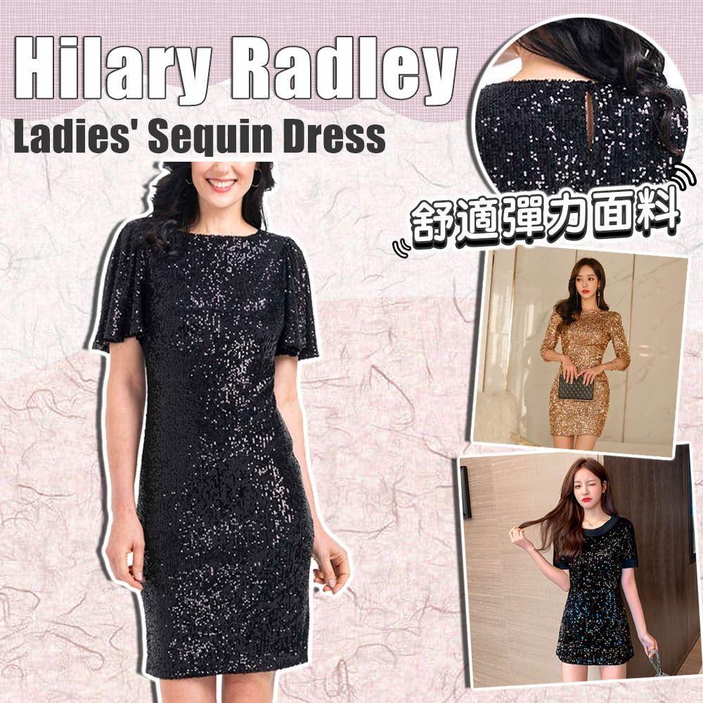 圖片 **貨品已截單**A P4U 6底: Hilary Radley 女裝亮片修身連衣裙 (黑色)