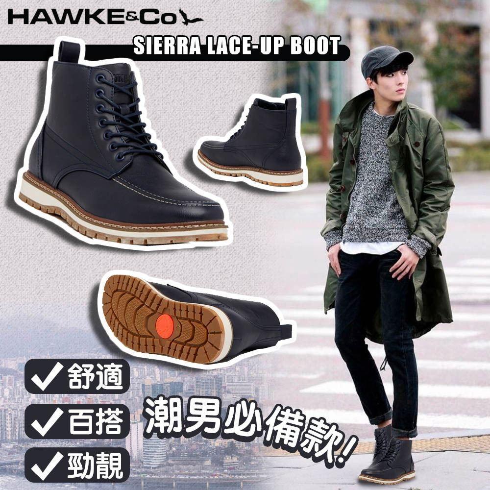 圖片 *貨品已截單* A P4U 6底: Hawke & Co 男裝短靴(深藍)
