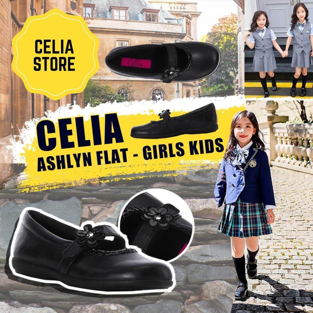 圖片 **貨品已截單**A P4U 7中: Celia ASHLYN FLAT 女童返學鞋