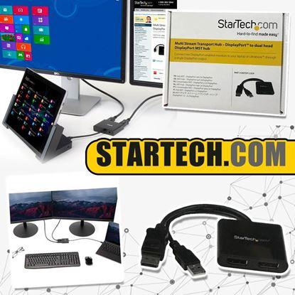 圖片 A P4U 7中: StarTech DisplayPort to dual head DisplayPort MST hub