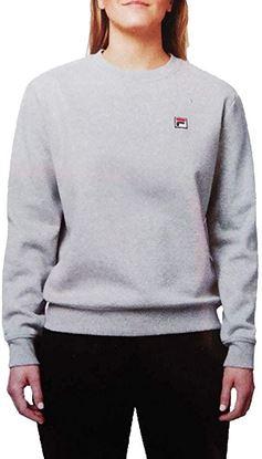 圖片 FILA 小Logo 女裝淨色無帽衛衣 灰色