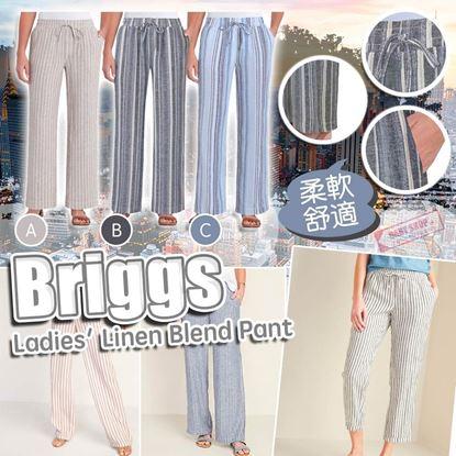 圖片 A P4U 7底: Briggs 女裝條紋亞麻長褲