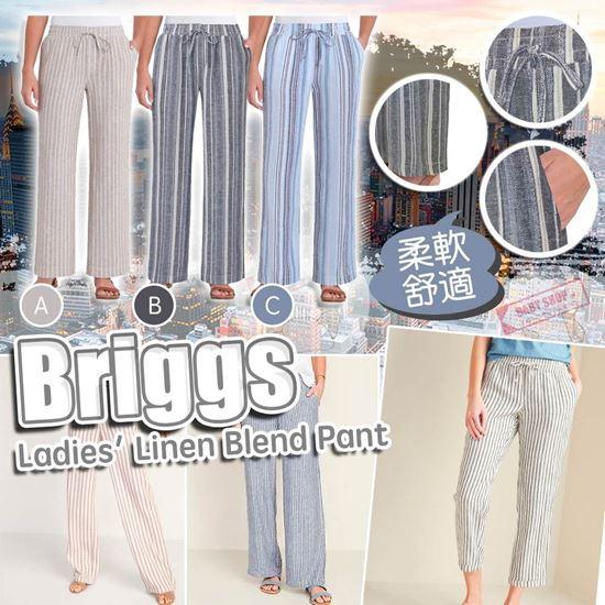 圖片 **貨品已截單**A P4U 7底: Briggs 女裝條紋亞麻長褲