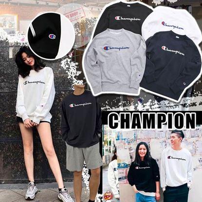 圖片 Champion 大人草字Logo長袖上衣 (顏色隨機)