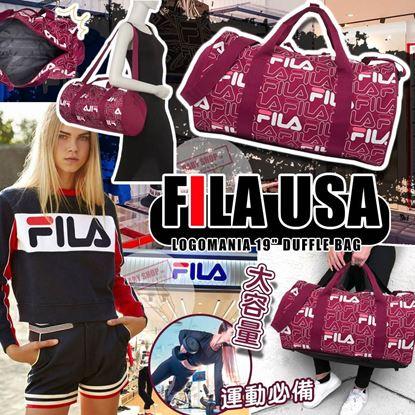 """圖片 A P4U 7底: Fila Logomania 19"""" 圓筒袋"""