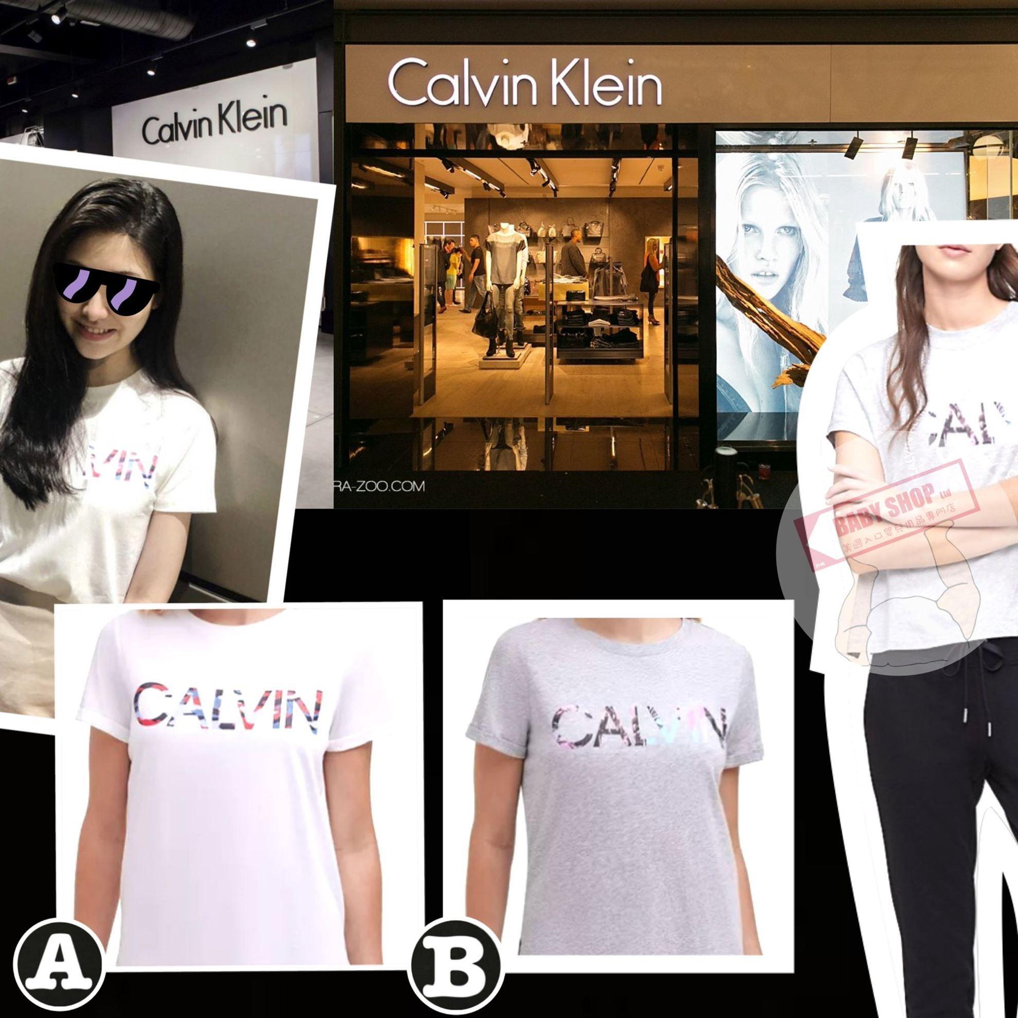 圖片 *貨品已截單* A P4U 8底: Calvin Klein 女裝純色Logo短袖