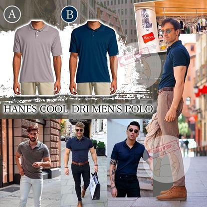 圖片 *貨品已截單* A P4U 8底: Hanes Cool 男裝涼感Polo上衣