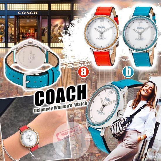 圖片 **貨品已截單**A P4U 7底: Coach Delancey 女裝水晶防水手錶