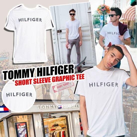 圖片 *貨品已截單* A P4U 8底: Tommy Hilfiger 男裝橫字Logo短袖(白色)