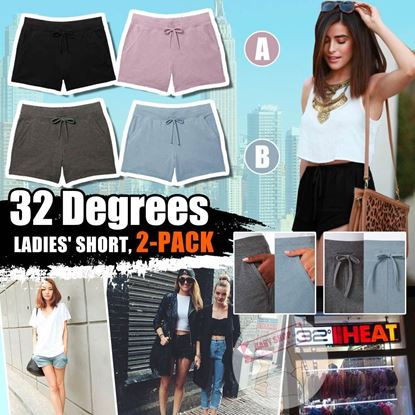 圖片 A P4U 8底: 32 Degrees Cool 女裝兩條裝涼感短褲