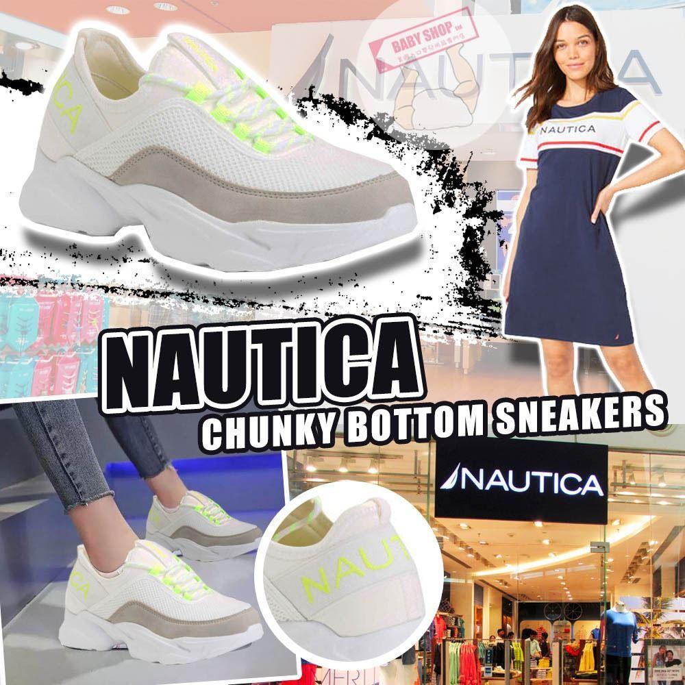 圖片 *貨品已截單* A P4U 8底: Nautica Chunky 女裝厚底小白鞋