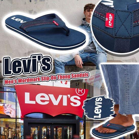 圖片 *貨品已截單* A P4U 9中: Levi's Logo 男裝人字拖鞋