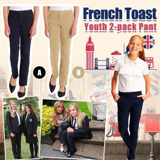 圖片 *貨品已截單* A P4U 9中: French Toast 2條裝女童返學長褲