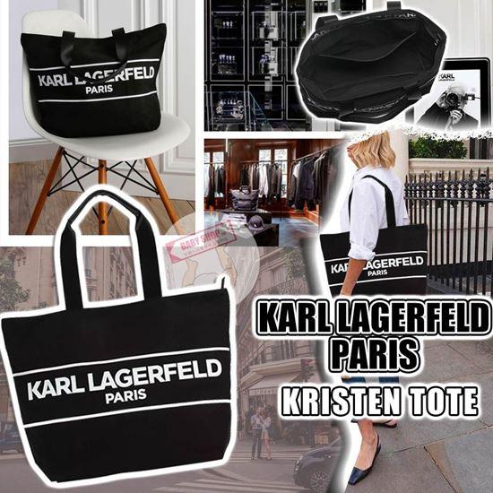 圖片 *貨品已截單* A P4U 空運: Karl Lagerfeld Kristen 拉鏈帆布包