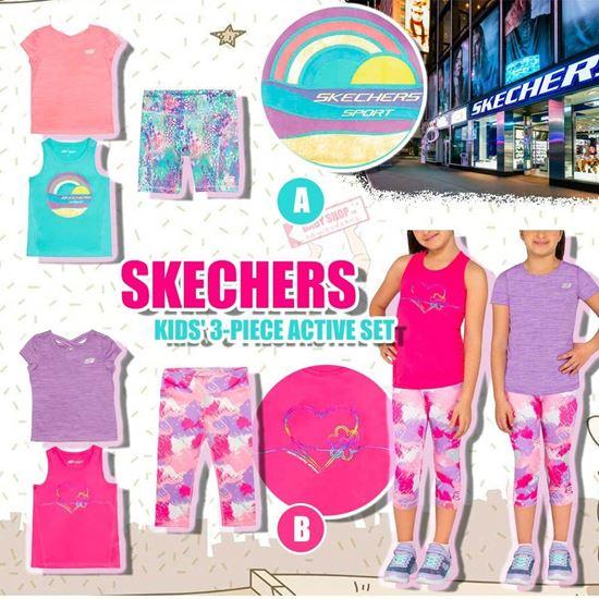 圖片 *貨品已截單* A P4U 9中: Skechers 囡囡3件裝運動衫