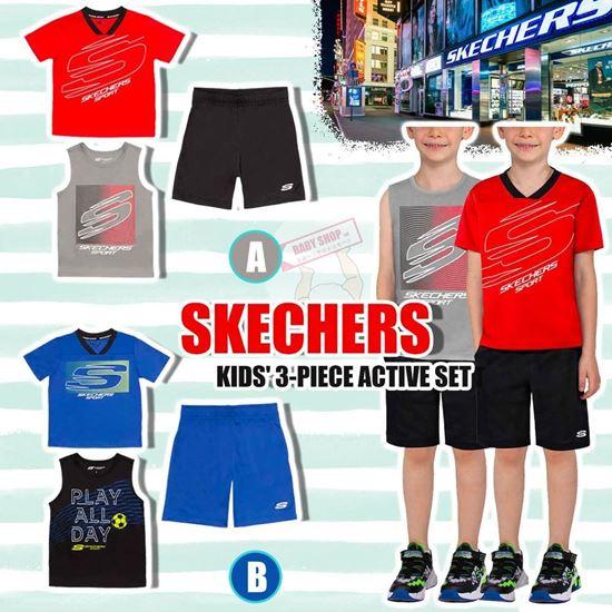 圖片 *貨品已截單* A P4U 9中: Skechers 仔仔3件裝運動衫