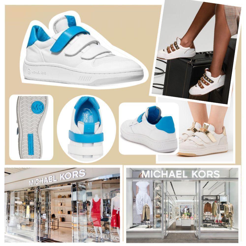 圖片 *貨品已截單* A P4U 9中: MICHAEL KORS 混色小白鞋(藍色)