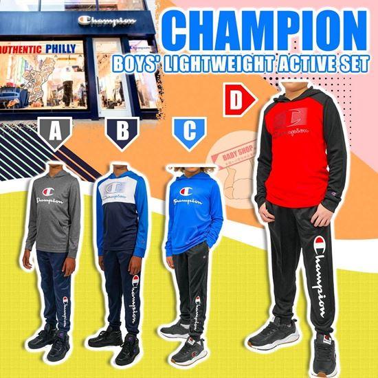 圖片 **貨品已截單**A P4U 9中: Champion 男童輕便運動裝2件套